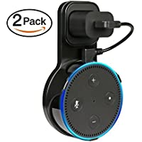VPROPTION Outlet Wall Mount Hanger Holder Stand for Dot 2nd Generation, Best Space-Saving Dot Accessories for Your Smart Home Speaker without Mess Wires or Screws (Short Charging Cable Included)