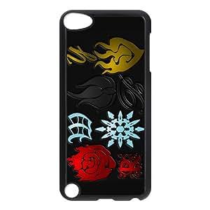 B.Baya Cartoon RWBY Logo Heraldry Rose Snowflake Fire Custom Phone Case Protective Cover For Ipod Touch 5 Black