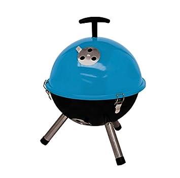 Mini hervidor de agua de portátil BBQ Barbacoa Barbacoa de carbón, azul