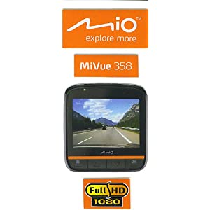 Mio MiVue 358 (16GB) HD DVR truck car video camera recorder drive cam high quality dash cam