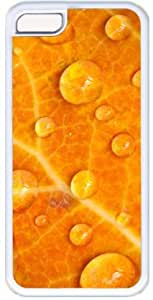 Dew Drops On Orange Leaf Apple iPhone 4 4s Case, iPhone 4 4s Cases Hard Shell Cover Skin Cases
