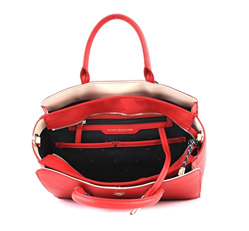 Buckle Tommy TH Satchel Hilfiger Tommy Red 7FxzwW