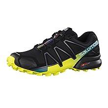 Salomon Speedcross 4, Zapatillas de Trail Running para Hombre, Negro/Amarillo (Black/Everglade/Sulphur Spring), 46 EU