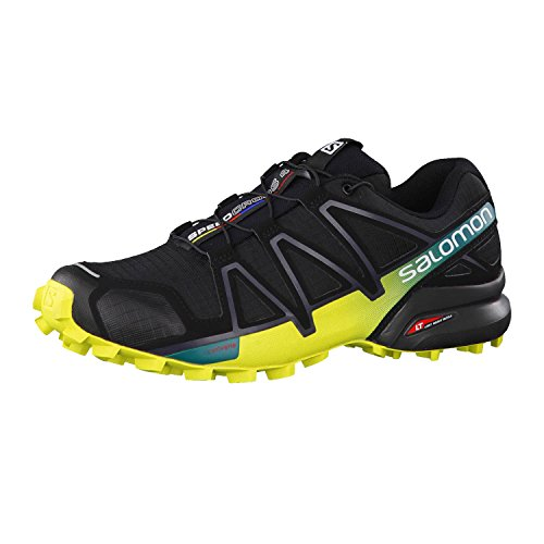 Salomon Men's Speedcross 4 Trail Running Shoes Black/Everglade 12 by Salomon