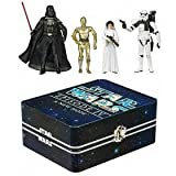 Star Wars Episode IV 4 Collectible Tin Action Figure Set A NEW HOPE with 4 Action Figures: Sandtrooper, Princess Leia, Darth Vader & C-3PO