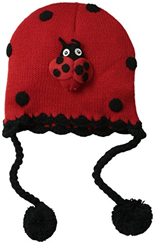 Kidorable Little Girls Hat, Ladybug, One ()