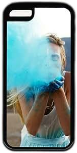 Girl Blowing Blue Powder Theme Iphone 5C Case