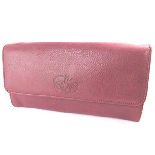 Borsa in pelle sacchetto scintillante Les Trésors De Lilyrosso rubino (2 scomparti)- 16x8x3 cm.