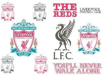 Amazon.com : Liverpool FC Temporary Tattoo Pack of 10 ...