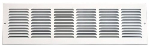 Speedi-Grille SG-246 RAG 24-Inch by 6-Inch White Return Air Vent Grille with Fixed Blades - Vent Grille