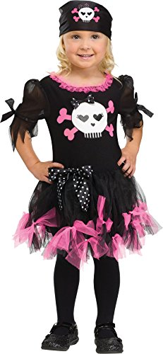 Girls Sally Skully Kids Child Fancy Dress Party Halloween Costume, 3T-4T -