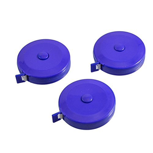 Sell4Style Body Tape Measure Automatic Retractable Measuring Tape Set 60 Inches 1.5 Meter With One Soft Tape Measuring (3 Pack - Body Automatic