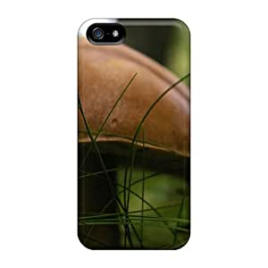 AnnetteL Scratch-free Phone Case For Iphone 5/5s- Retail Packaging - Brown Mushroom Nature