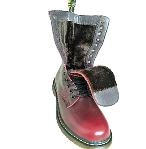 Traspirante Inverno Scarponi Stivali Pelle Martin Al Antiscivolo Snow Militare Boots Anfibi Pi Rosso Uomo Pelliccia Vino Polpaccio YuanDian Lacci Neve v5wtO1xnIq