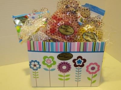 Sugar Free Spring Gift Basket Diabetic Candy & Diabetic Frie