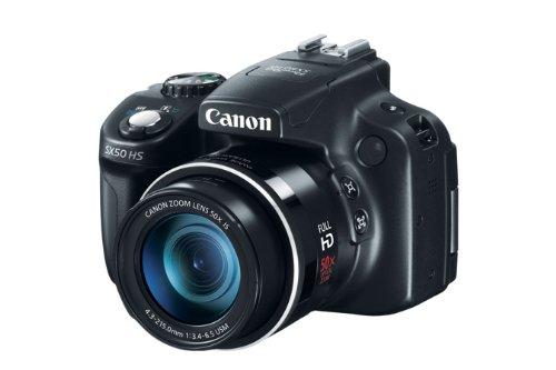 "Canon PowerShot SX50 HS - Cámara compacta de 12.1 Mp (pantalla de 3"", zoom óptico 50x, estabilizador de imagen óptico), negro product image"