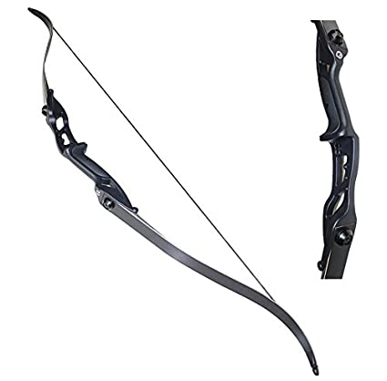 "amazon com toparchery archery 56"" takedown hunting 30lbs recurvetoparchery archery 56\u0026quot; takedown hunting 30lbs recurve bow metal riser right hand black longbow"