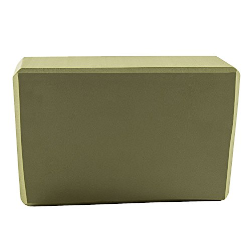 Yukimi Green Yoga Blocks 9x6x4 in - High Density EVA Foam Block Lightweight, Odor Resistant and Moisture-Proof