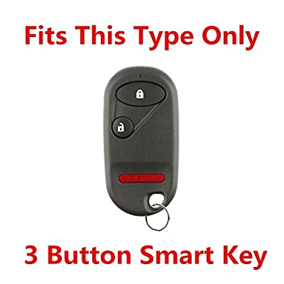 RPKEY Silicone Keyless Entry Remote Control Key Fob Cover Case Protector for Honda Accord Element Civic Pilot 72147-S5A-A01 NHVWB1U523 NHVWB1U521 A269ZUA106 72147-S04-A01(Gules): Automotive