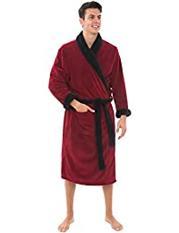 Mens Fleece Robe, Shawl Collar Bathrobe