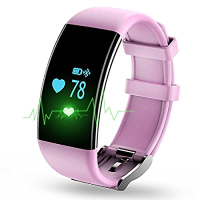 Sport Fitness Tracker Watch Smartband Nasion.V Exercise Watch Wristband Heart Rate Monitor IP68 Waterproof Smart Bracelet with Multi-Functions Activity Tracker for IOS and Android Smartphone