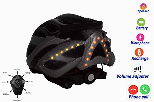 Smart Bicycle Helmets Adult Sport Helmets Support Listen To Music Handsfree call (black)