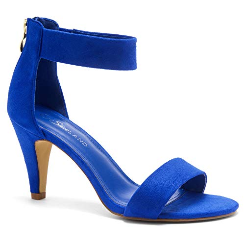 Herstyle RROSE Women's Open Toe High Heels Dress Wedding Party Elegant Heeled Sandals Royal Blue 8.5 ()