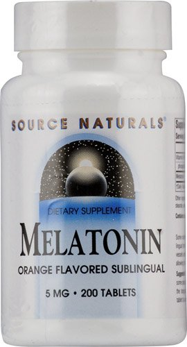 Source Naturals Melatonin Orange -- 5 mg - 200 Lozenges - 3PC