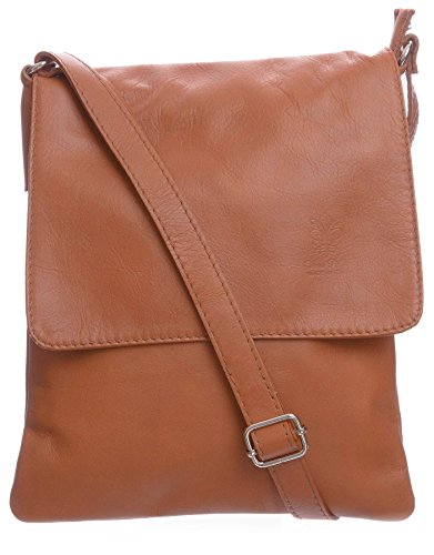 Big Handbag Shop - Borsa a tracolla donna (Light Tan (BH370))