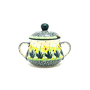 Polish Pottery Sugar Bowl – Daffodil