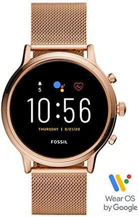 Fossil Gen 5 Julianna Stainless Steel Touchscreen Smartwatch with Speaker, Heart Rate, GPS, NFC, and Smartphone Notifications 41KfUYICIhL