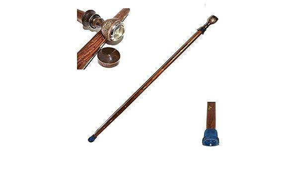 Brass Nautical Walking Stick for Women//Men Wooden Cane Costume Compass Wood Cane