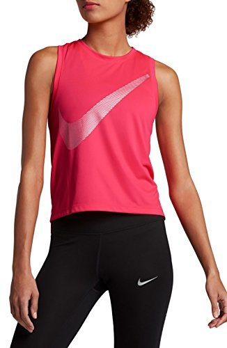 Nike Women's City Core Dry Racerback Running Tank Top Racer Pink Small ()