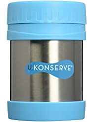 U Konserve 12-Ounce Stainless Steel Insulated Food Jar, Turquoise