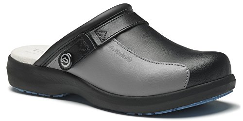 Lite of Com Noir Ultra Clogs World Noir Toffeln Gris 0696 Gris ZSqwXnAd