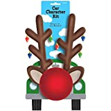 Festive Christmas Reindeer Car Decoration Kit Party Supply, Plastic
