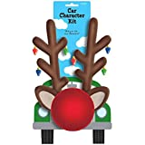 (US) Festive Christmas Reindeer Car Decoration Kit Party Supply, Plastic