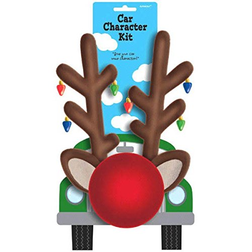 Festive Christmas Reindeer Car Decoration Kit Party Supply, (Reindeer Car Decorations)