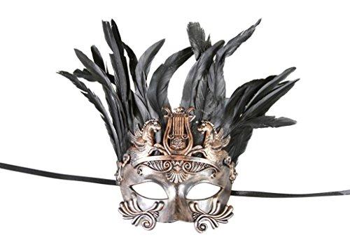 Rustic Mens Costumes (KAYSO INC Roman Gladiator Men's Venetian Masquerade Mask, Rustic Bronze)