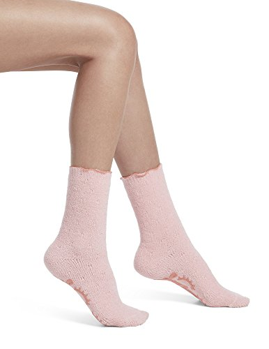HUE Women's Quilted Ultra Soft Crew Slipper Sleep Sock with Grippers, Tutu Pink, One - Socks Slipper Hue