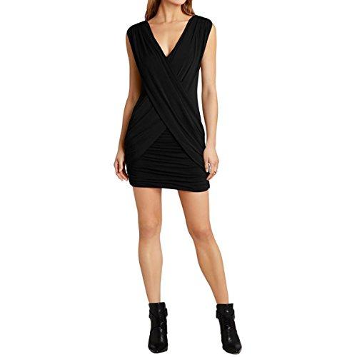 BCBG Max Azria Womens Alondra Knit Sleeveless Cocktail Dress Black S ()