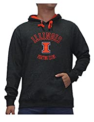 NCAA Youth ILLINOIS FIGHTING ILLINI Athletic Pullover Hoodie XL Dark Grey