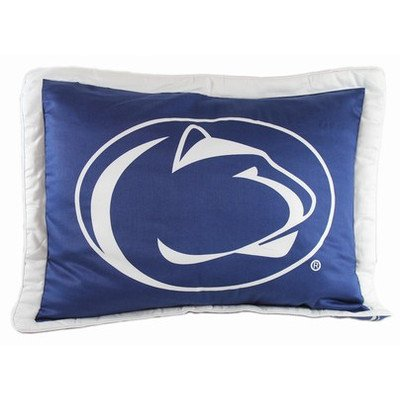 College Covers Penn State Nittany Lions Printed Pillow Sham (Penn State Bedding)