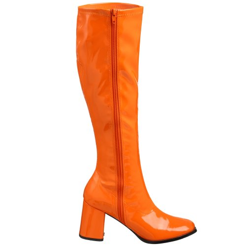 Pleaser GOGO-300 GOGO300/OG - Botas de charol para mujer, color naranja, talla 40
