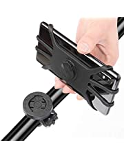 Teague MTB Phone Mount, Garmin Handlebar Mount Silicone Phone Holder for iPhone/Samsung/Galaxy/LG and Compatible with All Garmin Bike GPS Mount