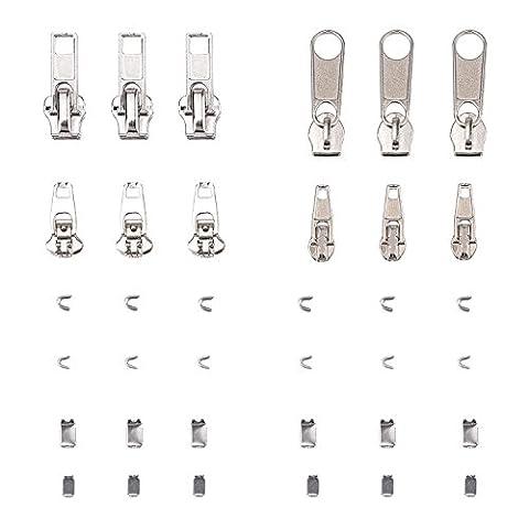 Mudder 36 Pack Zipper Replacement Zipper Repair Kit,