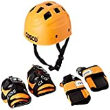 Cosco 4-in-1 Skating Protective Safety Kit, Kids (Black/Orange/Green/Blue)