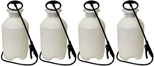 Chapin 20002 Poly Lawn and Garden Sprayer For Fertilizer, Herbicides and Pesticides , 2 Gallon (4 Pack) For Sale