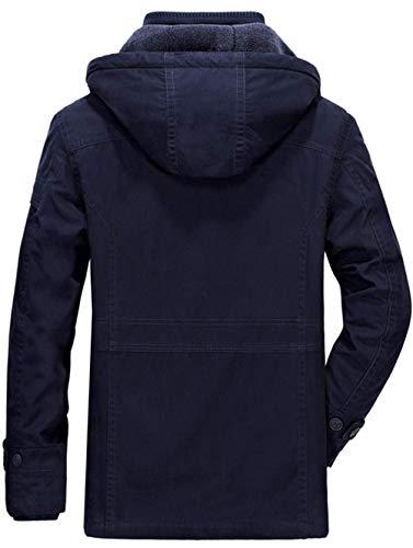 Doublure Parka Épaissir 100 Détachable Trench Épais Coat Veste Coton Ws668 Fourrure Men's Windproof Bleu Hiver Chaud Capuche Militaire Outdoor 8856 Homme Cold Jacket À Blouson wqtYx46