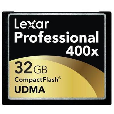 Lexar® Professional 32GB 400x CompactFlash® (CF) Card
